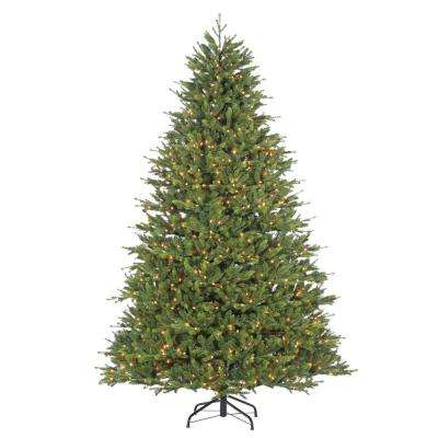 7.5 ft. Pre-Lit Natural Cut Manchester Pine Artificial Christmas Tree