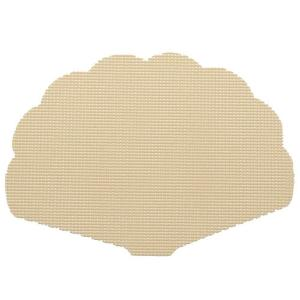 Kraftware Fishnet Shell Placemat in Ivory (Set of 12) by Kraftware