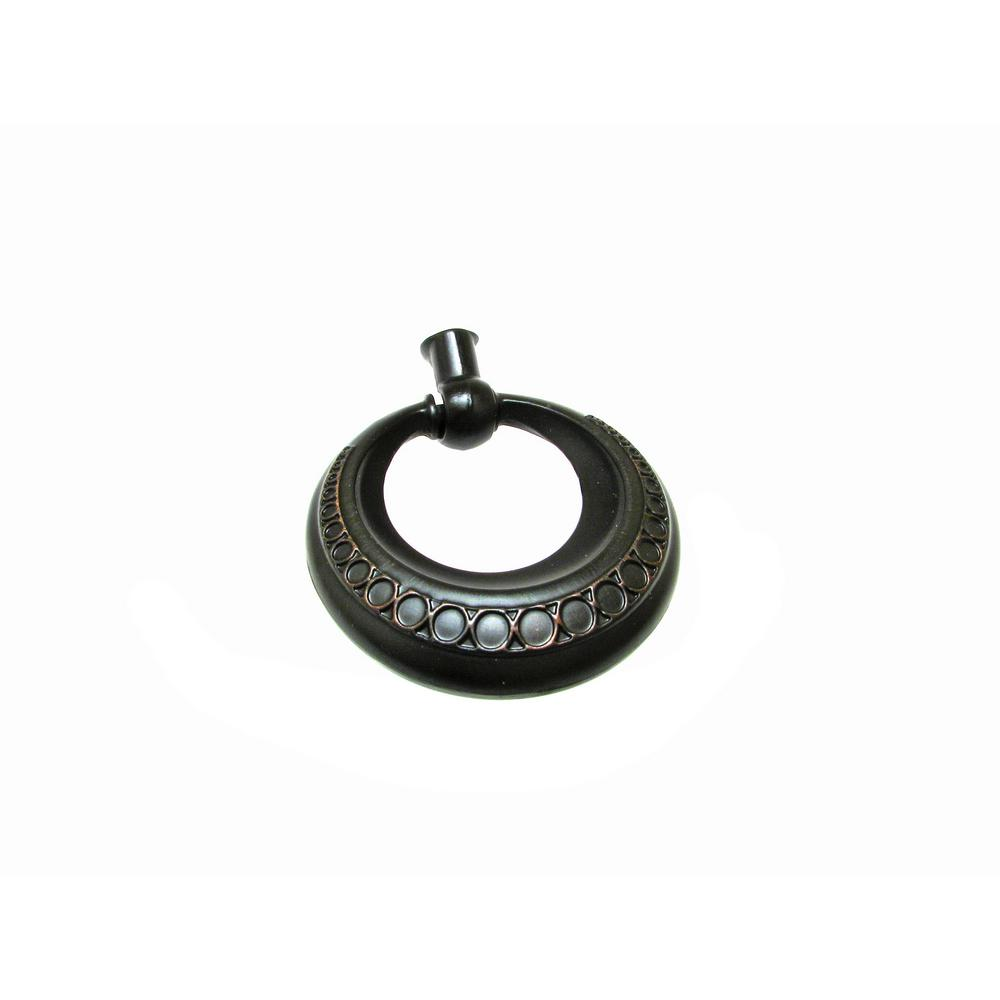 Richelieu Hardware 1-7/8 in. (48 mm) Brushed Oil-Rubbed Bronze Traditional Pendant and Ring Pull