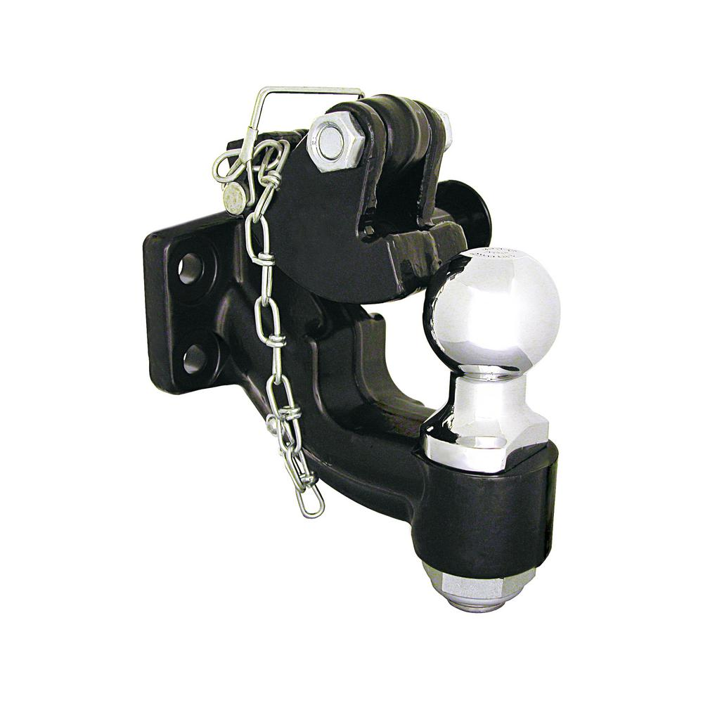10-Ton Combination Ball and Pintle Hitch with Mounting Kit