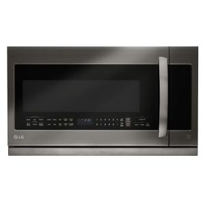LG Electronics 2.2 cu. ft. Over the Range Microwave in Black Stainless Steel with Sensor Cook and ExtendaVent by LG Electronics