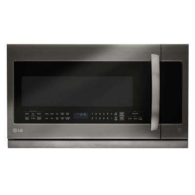 2.2 cu. ft. Over the Range Microwave in Black Stainless Steel with Sensor Cook and ExtendaVent