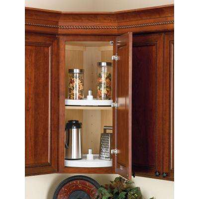 26 in. H x 28 in. W x 28 in. D White Value Line Full Circle Lazy Susan 2-Shelf Set