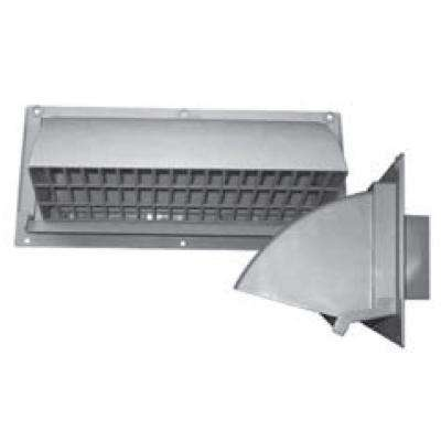 10 in. x 3.25 in. Range Hood Vent Wall Cap in Light Gray