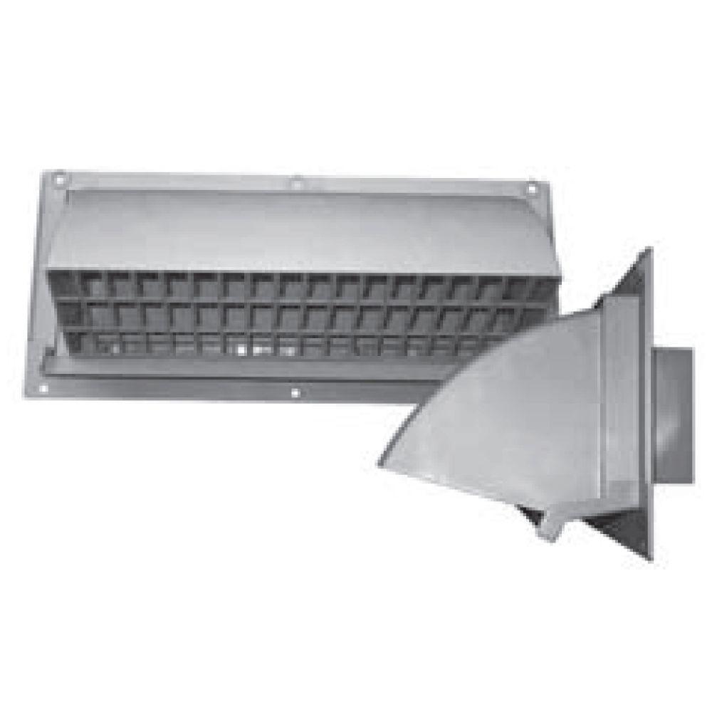 10 in. x 3.25 in. Range Hood Vent Wall Cap in Light Gray