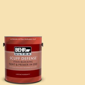 Behr Ultra 1 Gal M290 3 Corn Stalk Extra Durable Flat Interior Paint And Primer In One 172001 The Home Depot