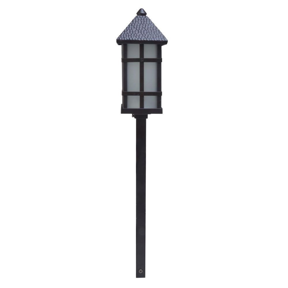 Moonrays Parkway-Style Low-Voltage 35-Lumen Black Outdoor