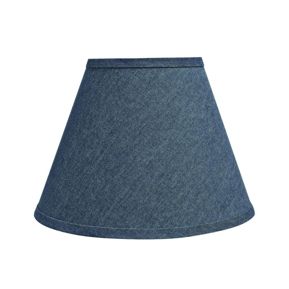 12 in. x 9 in. Washing Blue Hardback Empire Lamp Shade
