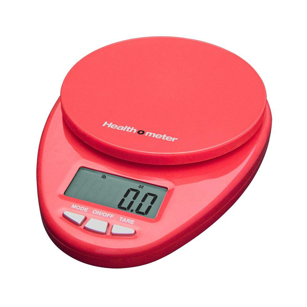 Escali Health o Meter Multifunctional Kitchen Food Scale in Red