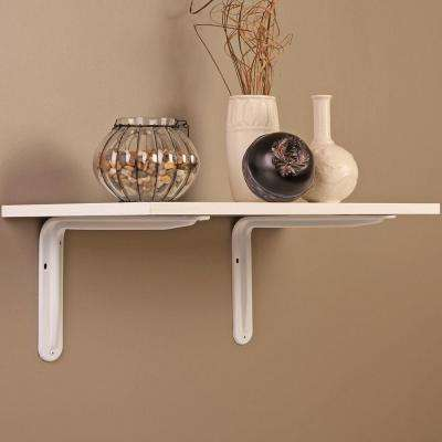 7.8 in. x 5.5 in. White Magnum Shelf Bracket