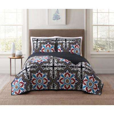 Sheffield Blue Multi Full and Queen XL Quilt Set
