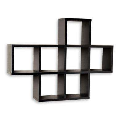 31 in. x 23 in. Black Laminated Cubby Shelf