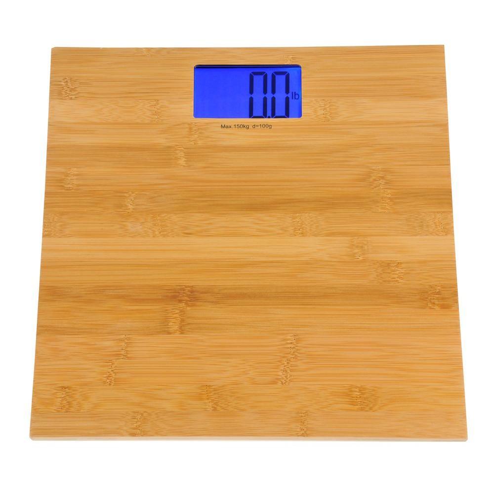 KALORIK 1.3 in. H Electronic Bamboo Bathroom Scale