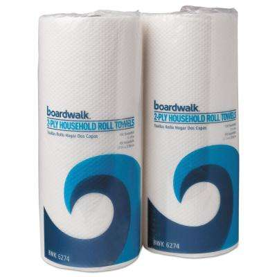 Household Perforated Paper Towel Rolls 2-Ply 9 x 11 White (100 Sheets per Roll, 30 Rolls per Carton)