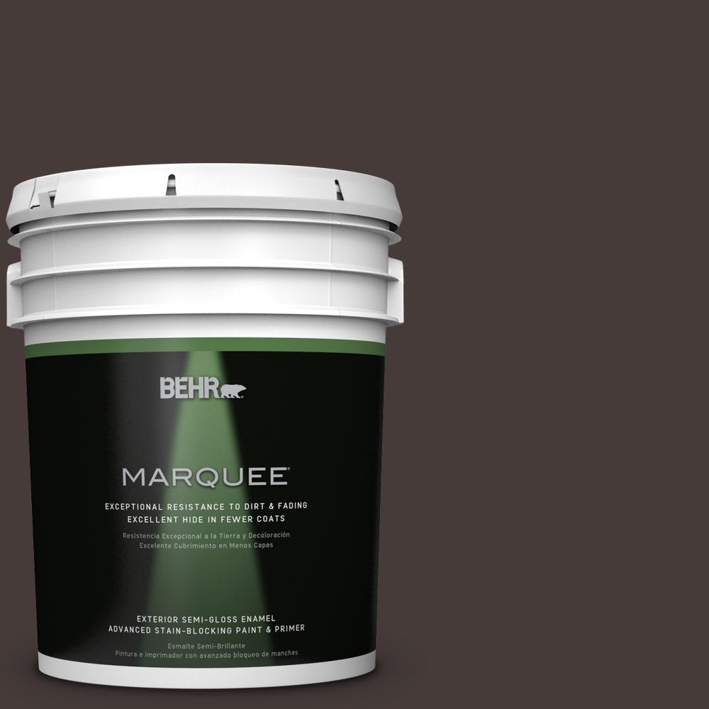 5 gal. #T18-04 Nocturne Shade Semi-Gloss Enamel Exterior Paint
