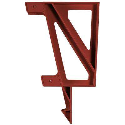 22 in. x 18.2 in. x 1.3 in. Resin Deck Bench Bracket Redwood