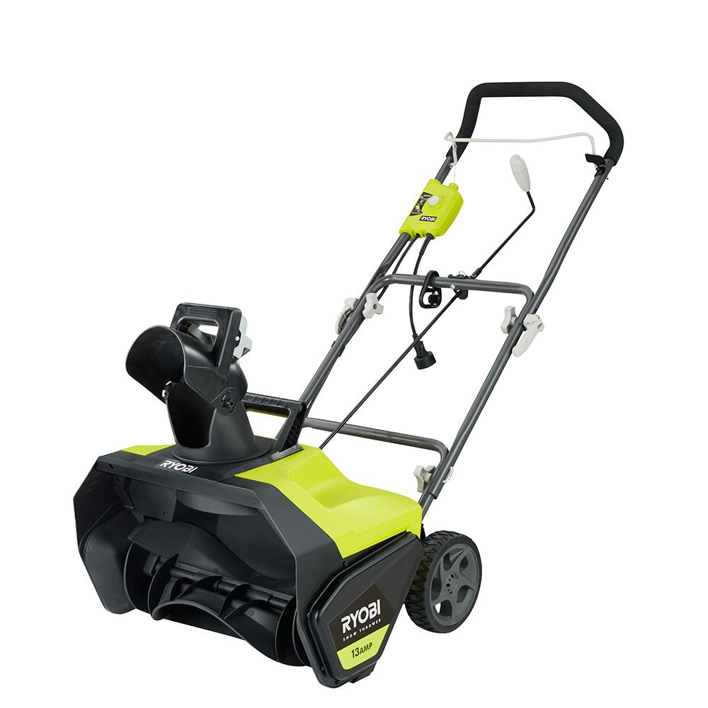 Ryobi 20 In 13 Amp Corded Electric Snow Blower Ryac803 The Home Depot