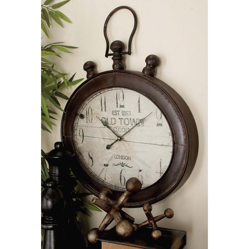 Vintage Stopwatch Style Oval Wall Clock