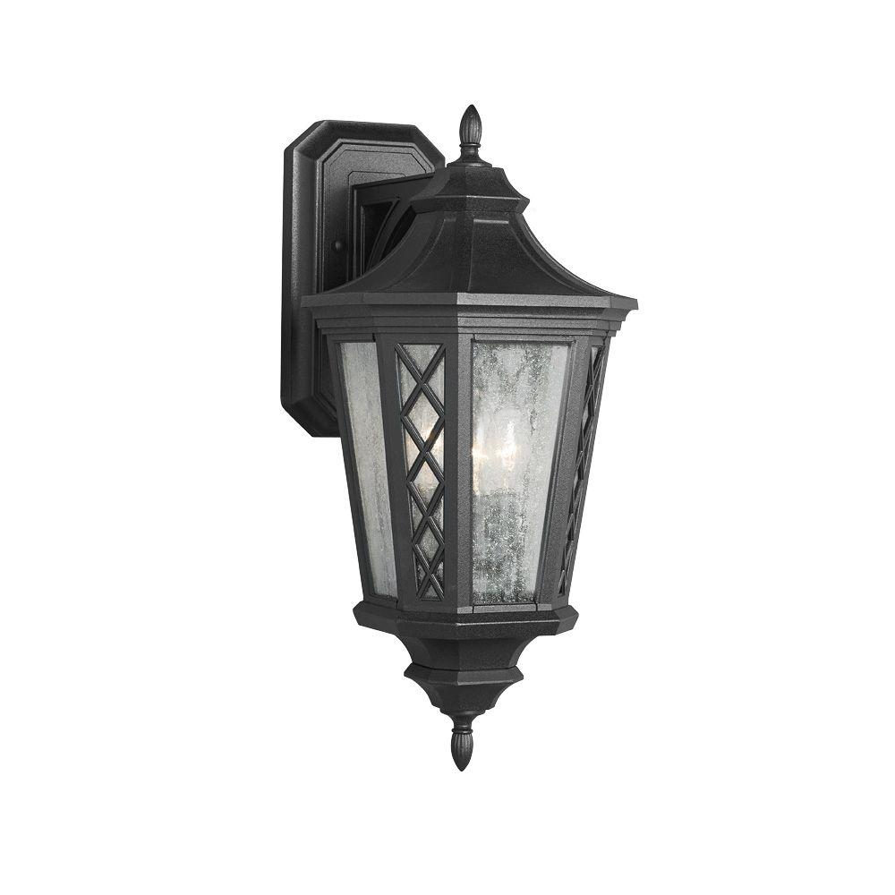 Feiss Wembley Park 3-Light Textured Black Outdoor Wall Lantern