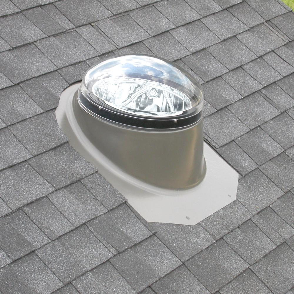 Velux 14 In Sun Tunnel Tubular Skylight With Flexible Tunnel And Pitched Flashing Tmf 014 0000 The Home Depot