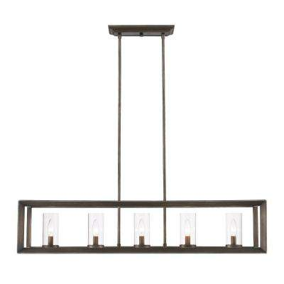 Caelan Collection 5-Light Gunmetal Bronze Island Pendant