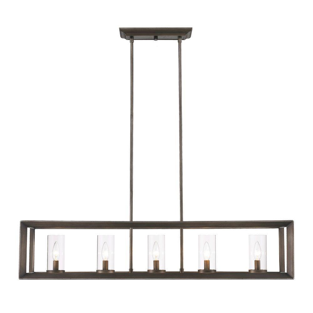 rectangular pendant lighting. Smyth Collection 5-Light Gunmetal Bronze Island Pendant Rectangular Lighting L