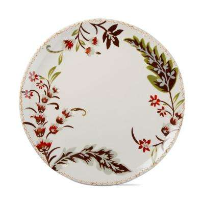 Autumn Bloom Harvest 1-Piece Earthenware Round Gift Platter