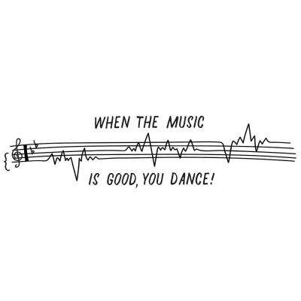 Black Dance to Good Music Decal Wall Art Kit