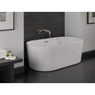 Montour 60 in. Acrylic Flatbottom Bathtub with Integrated Waste in White