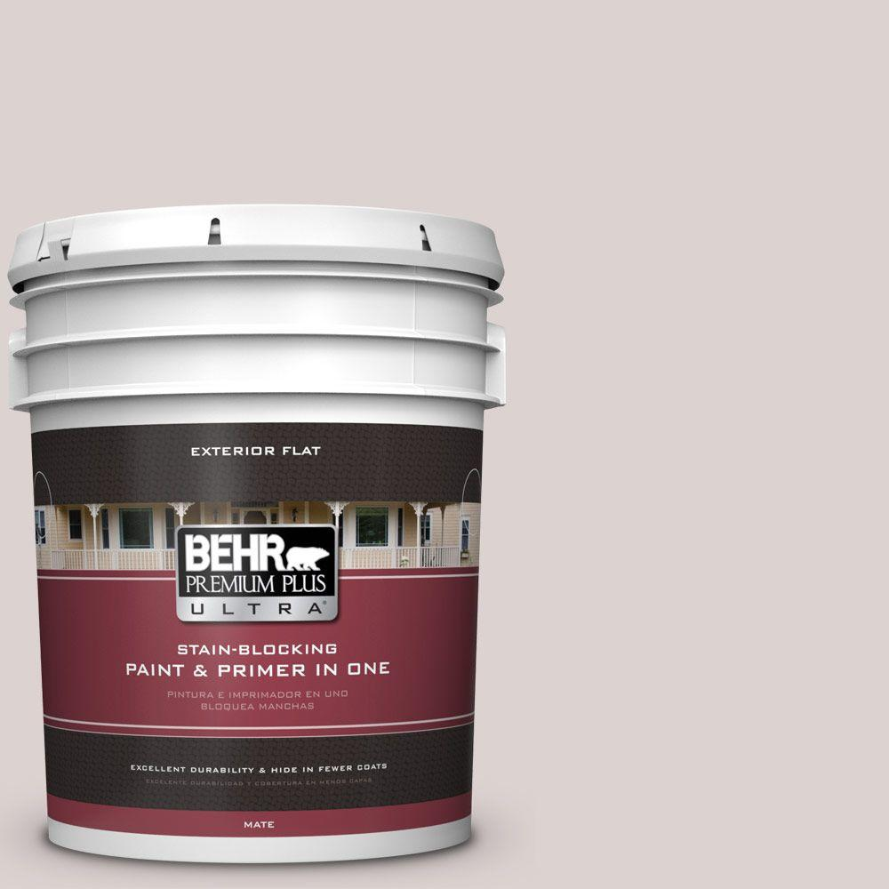 BEHR Premium Plus Ultra 5-gal. #750A-2 Feather Gray Flat Exterior Paint