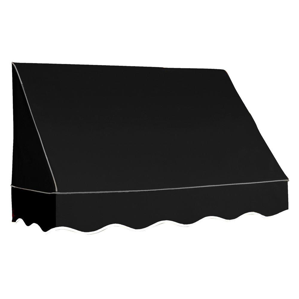 AWNTECH 4 ft. San Francisco Awning (31 in. H x 24 in. D) in Black