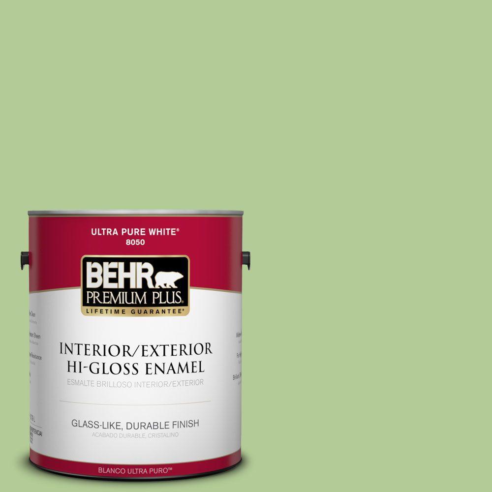 1-gal. #430D-4 Garden Spot Hi-Gloss Enamel Interior/Exterior Paint