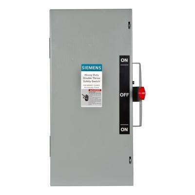 Double Throw 60 Amp 600-Volt 3-Pole Indoor Non-Fusible Safety Switch