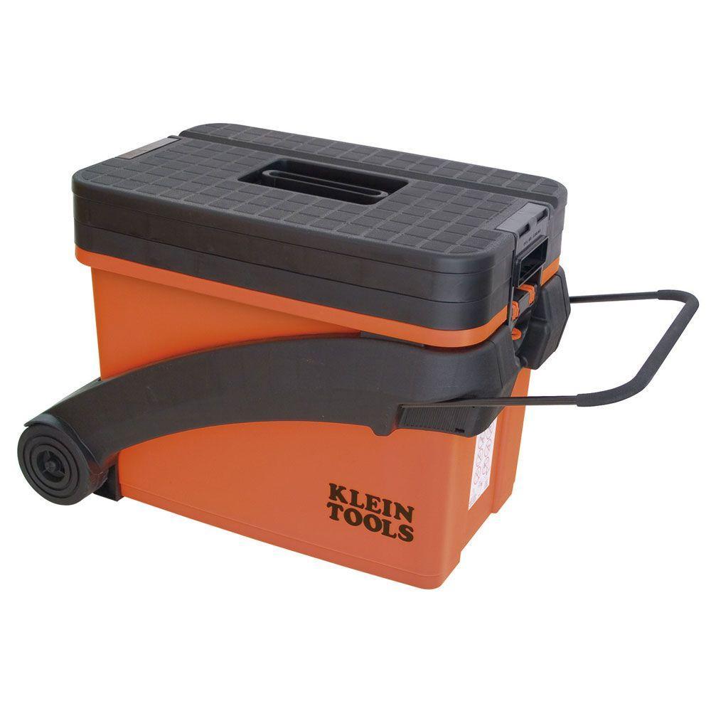 Klein Tools Hi-Viz Sit/Stand 3-Tier Tool Box Wheel Caddy-DISCONTINUED