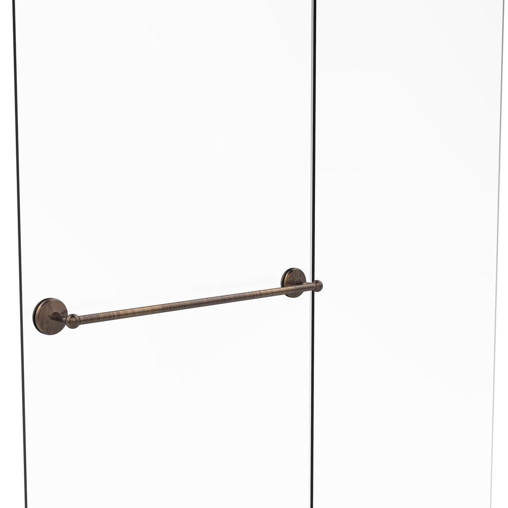Allied Brass Monte Carlo Collection 30 in. Shower Door Towel Bar in Venetian Bronze