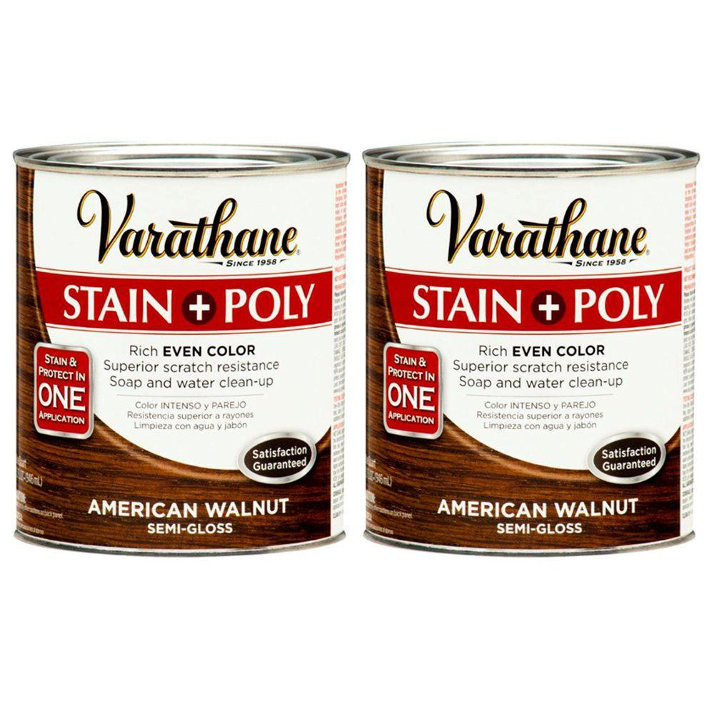 Varathane 1 Qt. American Walnut Wood Stain and Polyurethane (2-Pack)-DISCONTINUED