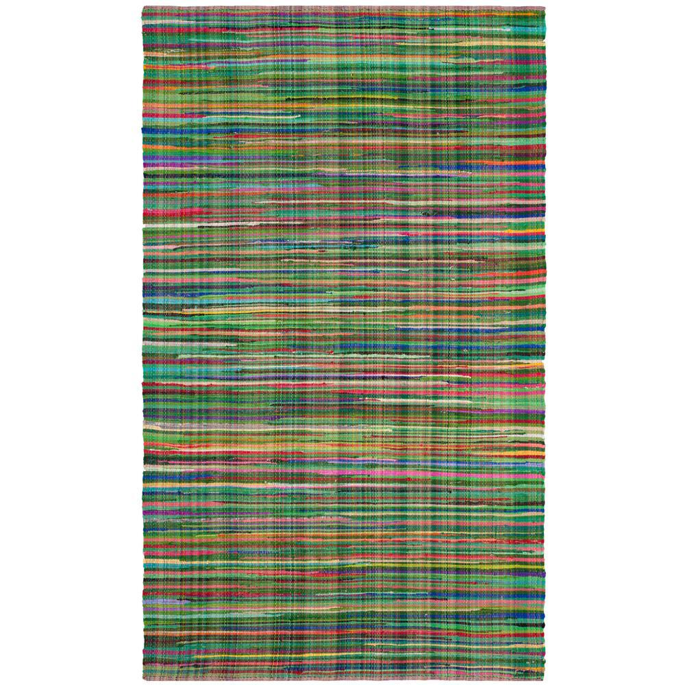 Safavieh Rag Rug Green/Multi 6 Ft. X 9 Ft. Area Rug