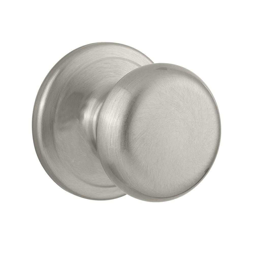Kwikset Hancock Satin Nickel Passage Hall/Closet Door Knob