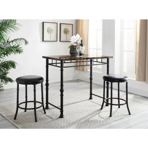 Awesome Dax 3 Piece Black Pub Set Onthecornerstone Fun Painted Chair Ideas Images Onthecornerstoneorg