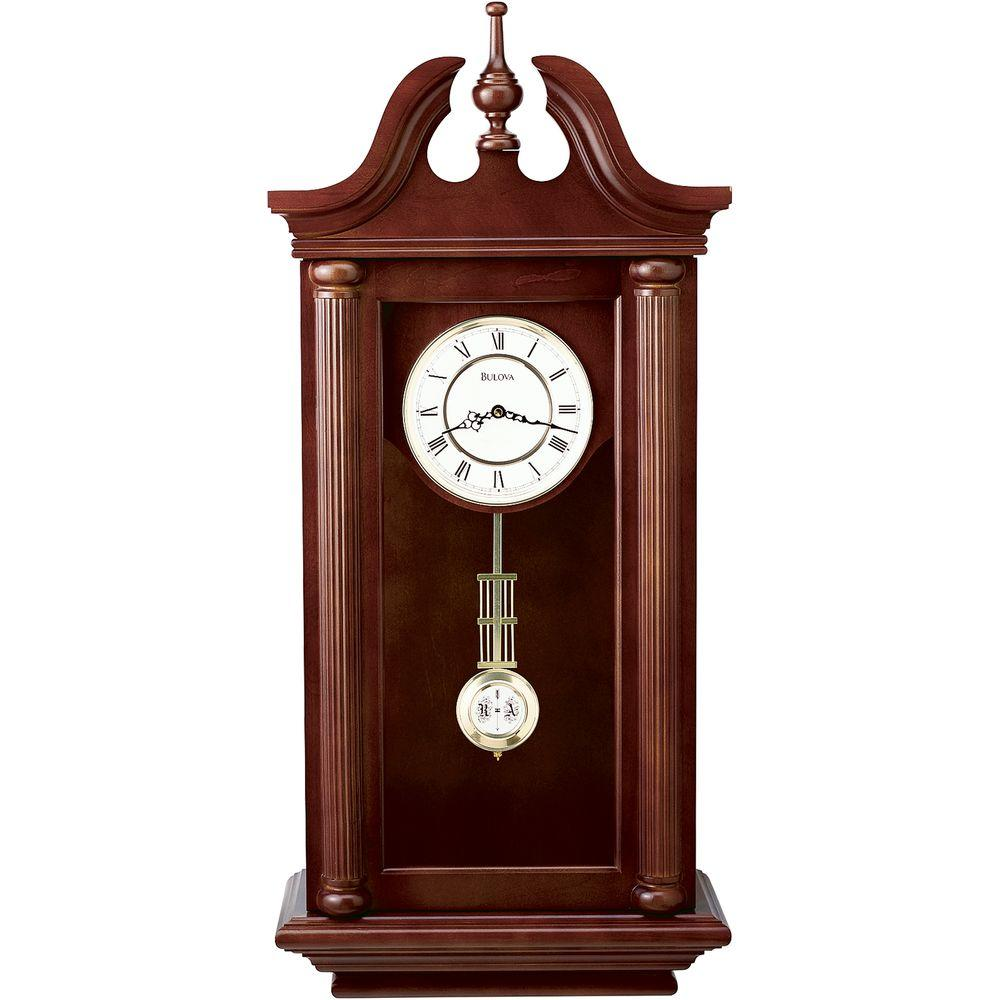 Bulova 37 in H x 165 in W Pendulum Chime Wall ClockC4456 The