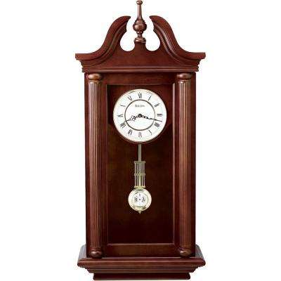 37 in. H x 16.5 in. W Pendulum Chime Wall Clock