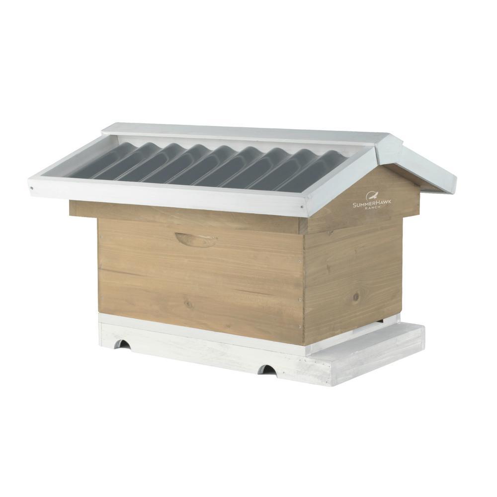 29.38 in. x 22.88 in. x 21 in. Victorian Teak Backyard Bee Hive