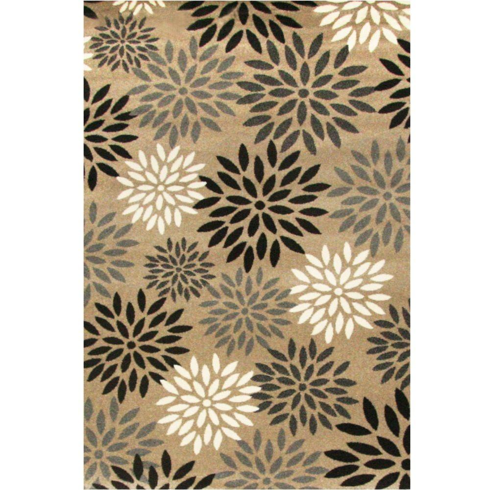 CASA Collection Wilder Tan 7 ft. 9 in. x 10 ft. 6 in. Are...