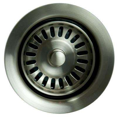 Garbage Disposal Stopper/Strainer in Brushed Nickel
