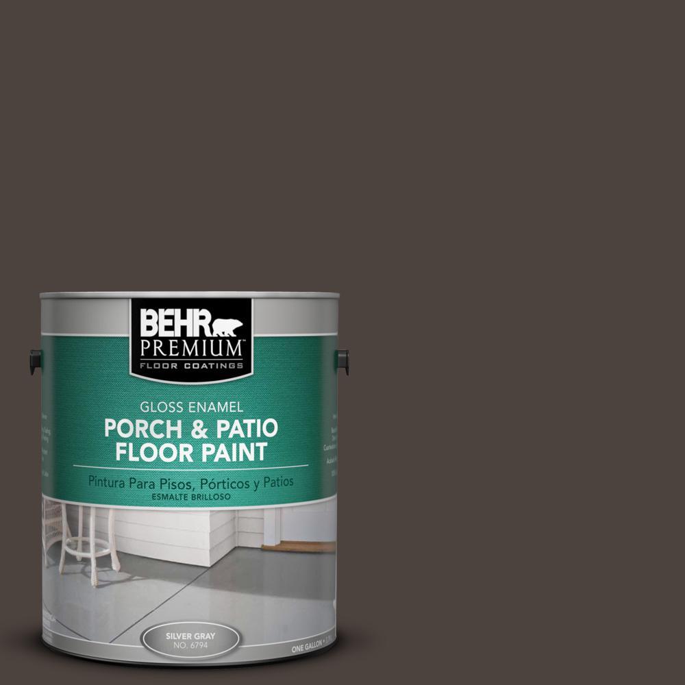 1 gal. #N110-7 Black Garnet Gloss Interior/Exterior Porch and Patio Floor Paint