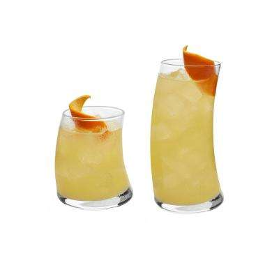 Swerve 16-Piece Clear Glass Drinkware Set