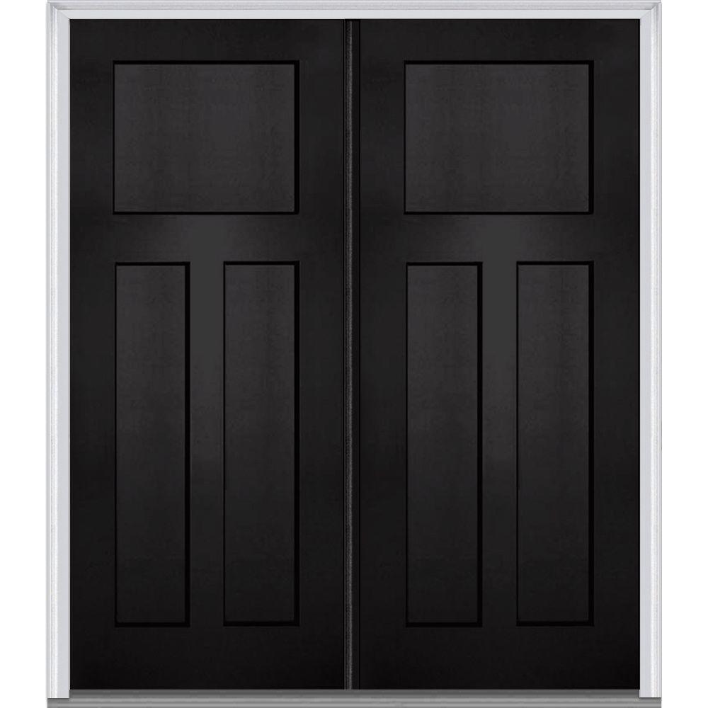 Perfect MMI Door 64 In. X 80 In. Classic Left Hand Inswing Craftsman 3