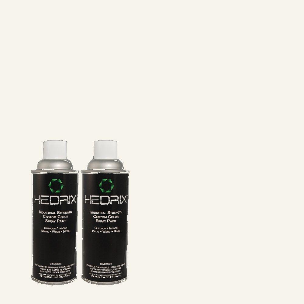 Hedrix 11 oz. Match of W-F-600 Snow Fall Gloss Custom Spray Paint (2-Pack)