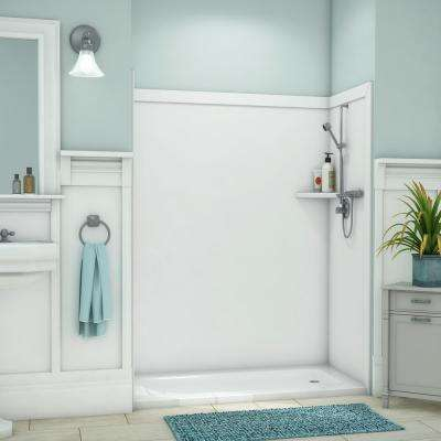 Glueup Shower Walls Surrounds Showers The Home Depot - Fake tile panels for bathroom walls