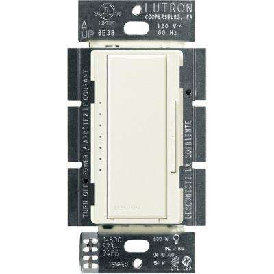Maestro C.L Dimmer Switch for Dimmable LED, Halogen and Incandescent Bulbs, Single-Pole or Multi-Location, Biscuit